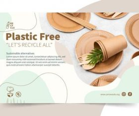 Please use plastic free tableware vector