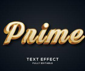 Pnime 3d editable text style effect vector