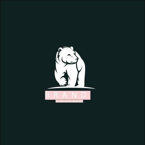 Polar bear mascot logo design vector