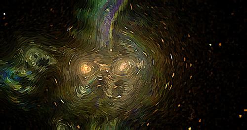 Post Impressionist background vector