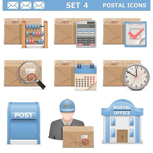 Postal information concept vector