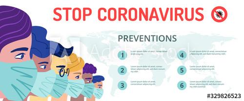 Poster stop coronavirus vector