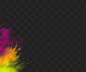 Powder paint border vector