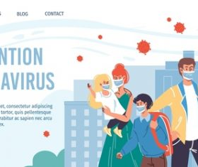 Prevention coronavirus cartoon illustration vector