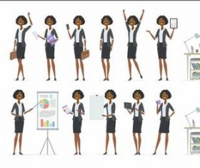 Professional women cartoon daily vector