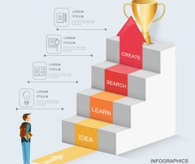 Promotion champion concept infographic vector