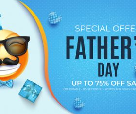 Promotion fathers day card vector