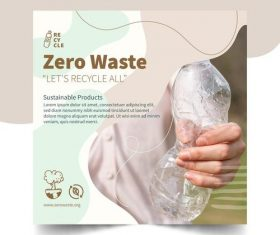 Protect the environment refuse to use plastic products vector