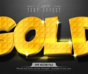 Pure golden text effect editable vector