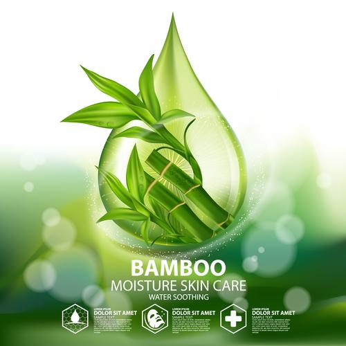 Pure natural moisturizing skin care essence vector