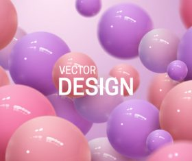 Purple and pink sphere abstract background vector