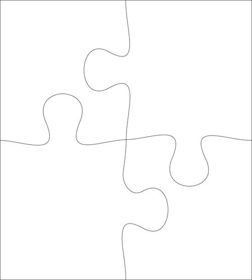 Puzzle one corner vector