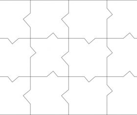 Puzzle templates vector