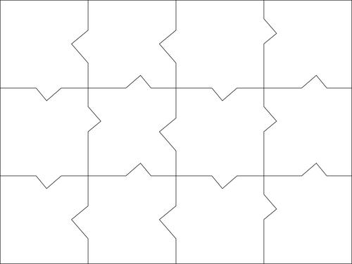 Puzzle templates vector