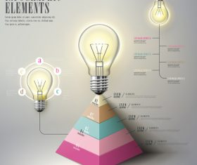 Pyramid benefit infographic concept vector