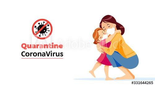 Quarantine coronavirus promotion advertisement vector