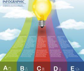 Rainbow road infographic concept vector