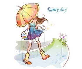 Rainy day illustration vector