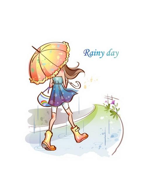 Rainy day illustration vector