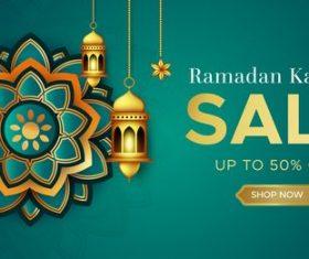 Ramadan Kareem sale vector