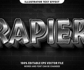 Rapier 3d editable text style effect vector