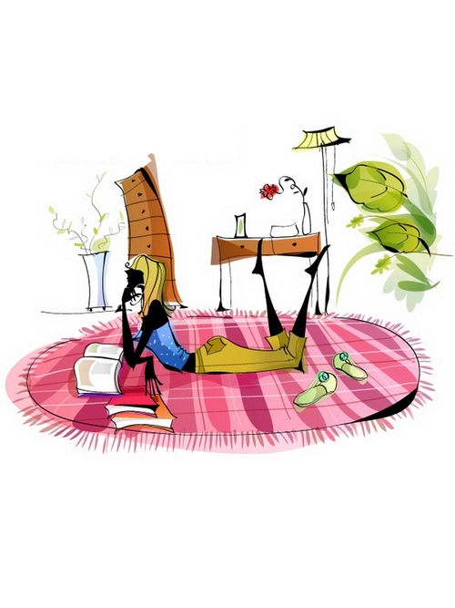 Reading time illustration vector