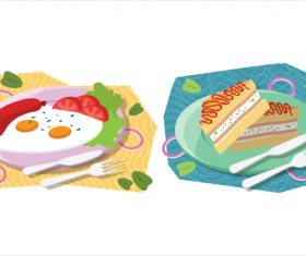 Reasonable meal breakfast food illustration vector