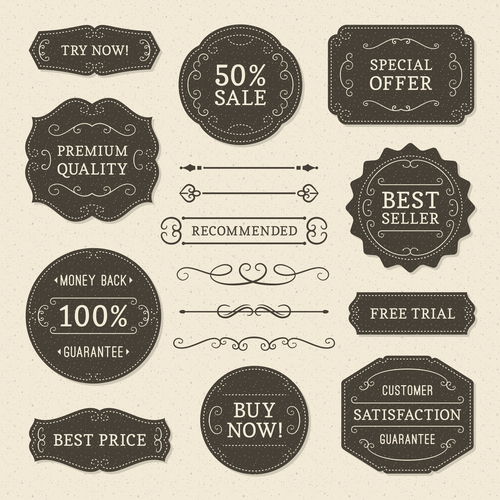 Recommended commercial label vector