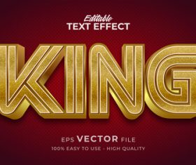 Red background gold editable text style effect vector