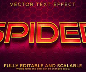 Red font 3d effect text design vector