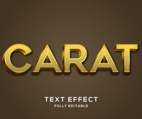 Red font editable text effect vector