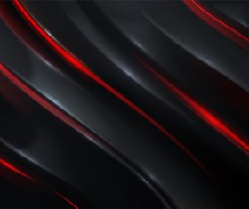 Red thin strips abstract on black background vector