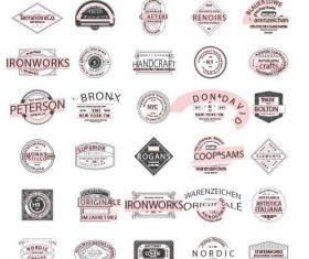 Retro modern logos vector