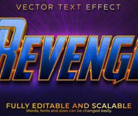 Revenge 3d effect text design vector