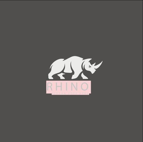 Rhino mascot logo design vector