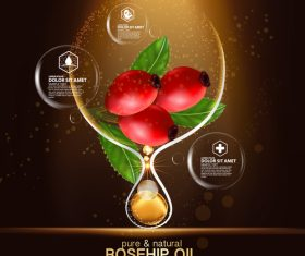 Rosehip oil cosmetic vector