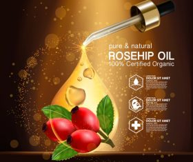 Rosehip oil vector