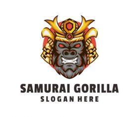 Samurai gorilla logo vector