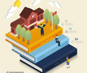 School choice infographic concept vector