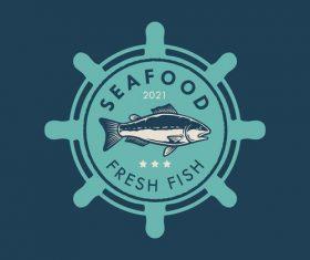 Seafood logo design vector