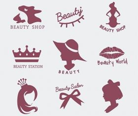 Set of beauty salon icon vectors