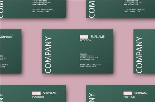 Set of business card template vector