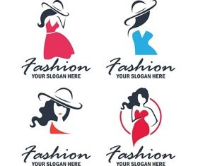 Set of fashion beauty logo emblem collection vector