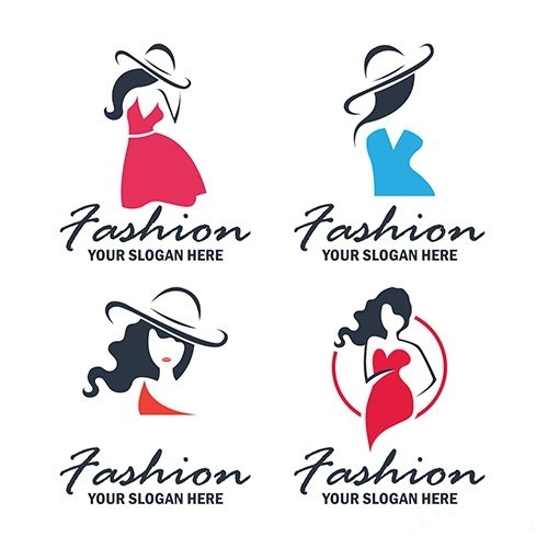 Set of fashion beauty logo emblem collection vector