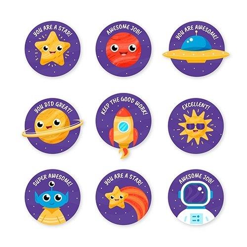 Set of good job stickers vector