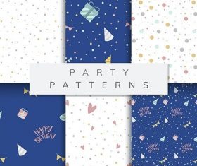 Set of party pattern vector