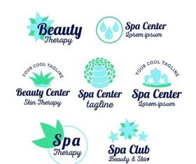 Set of spa center logos flat style vector