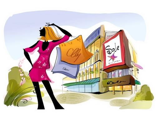 Shopping time illustration vector