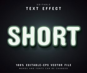 Short text effect editable vector