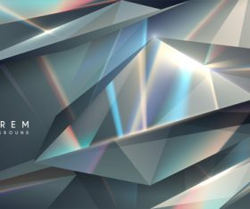 Silver rhombus abstract background vector